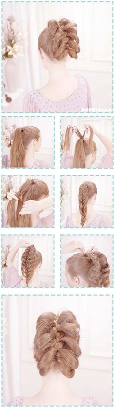 Ribcage braid. The braid is not just a French braid. It is harder.