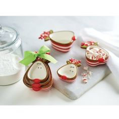 Mud Pie Holiday Reindeer Measuring Cup Set by Mud Pie. $15.75. Made by Mud Pie. Includes 1/4 cup, 1/2 cup and 1 cup. Tied with grosgrain bow. 3 piece ceramic reindeer measuring cup set. Mud Pie 3 piece ceramic reindeer measuring cup set includes 1/4 cup, 1/2 cup and 1 cup. Set is tied with decorative grosgrain bow.. Save 31% Off!