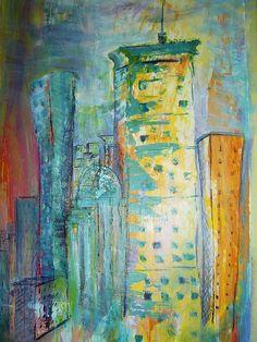 Painting of Boston by FloraFaunaArt on Etsy, $17.00
