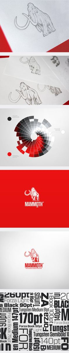 Mammoth. Brand Identity and Packaing Design by Higher s.r.o., via Behance