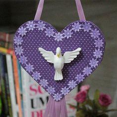#CoraçõesDivinos  Tenha proteção do Divino Espírito Santo no seu lar  elo7.com.br/bellamiaatelie  #divinoespiritosanto #coraçãodivino #decoração #decoraçãoreligiosa