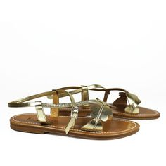 K.Jacques Sandals ($150) ❤ liked on Polyvore featuring shoes, sandals, platinum, leather shoes, k jacques sandals, flat leather sandals, flat sandals and open toe shoes