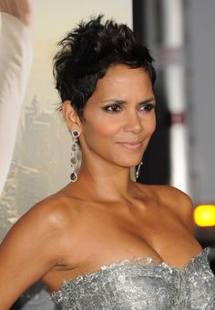 Halle Berry Pixie. Halle has definitely mastered the art of the messy pixie 'do.