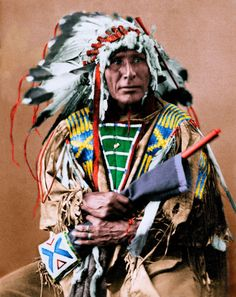 Native American Indian Sioux Chief Afraid of the Bear
