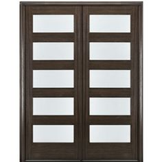 MAI Doors Mahogany Entry Doors with Matching Sidelites Double Front Entry Doors, Double Doors Exterior, Exterior Doors With Glass, Entry Doors With Glass, Wood Entry Doors, Wood Exterior Door, Glass Doors, Contemporary Doors, Interior Barn Doors