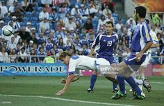 Russia 2 Greece 1 in 2004 in Faro. Dmitri Bulykin heads the 2nd goal for Russia on 17 minutes in Group A at Euro 2004. 2-0 Russia.