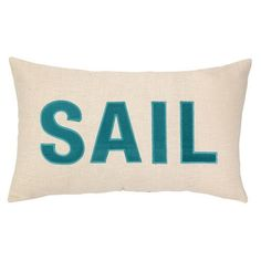 """The """"Sail"""" Pillow by Phi is part of an eclectic collection of pillows and other textiles created by exciting designers in their studio, who focus on generating trend right and fashion forward products. These decorative home accessories are exceptional in both quality and value."""