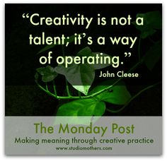 What are your creative intentions for the week? Share them with us at the Studio Mothers Monday Post! #creativity #plan #time #art #writing #motherhood