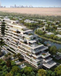 Amazing Architecture : Seventh heaven at Al Barari - Dubai Innovative Architecture, Hotel Architecture, Architecture Visualization, Green Architecture, Futuristic Architecture, Residential Architecture, Contemporary Architecture, Amazing Architecture, Landscape Architecture