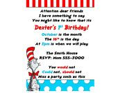 She has the coolest Dr. Suess birthday items....
