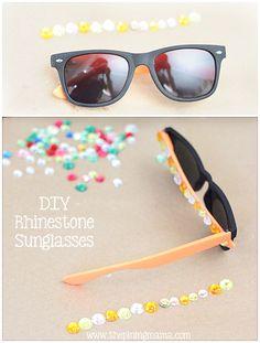 DIY Rhinestone sunglasses from @Kimber -ThePinningMama | Sunglasses Project