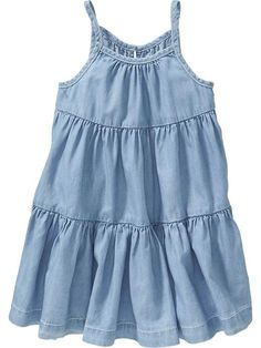 Tiered Chambray Sundresses for Baby Product Image