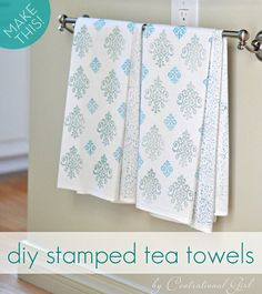 How to make your own #DIY stamped tea towels!