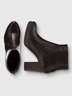 CLEAN PLATFORM BOOTS, Dark Brown, large