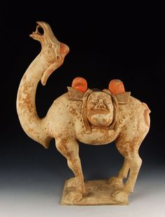 Tang Dynasty  - Painted Pottery Camel Statue