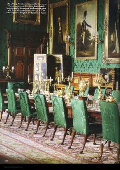 The Dining Room at Alnwick Castle. Photo by James McDonald for The Word of Interiors magazine.