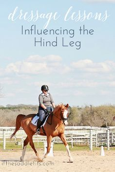 Dressage Lessons: Influencing the hind leg