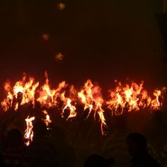 An endless stream of people marching through Lewes with flaming torches during Bonfire Night.. #lewesbonfire #guyfawkes #flame #fireworks #november5th #autumn #bonfirenight #fire #flare #silhouette #procession #flamingtorch