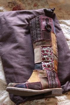 patch work gypsy boots
