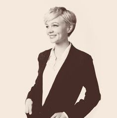 Carey Mulligan, photo credit unknown. She is adorable.
