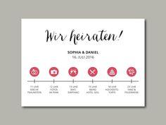 wedding invitation stationery timeline | Hochzeitseinladung TIMELINE von in…