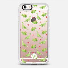 Dinosaur Love - Transparent Case by Wonder Forest - New Standard Case