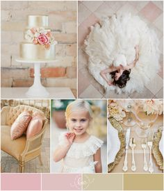 Pink and Gold Wedding Inspiration : pink, white and gold palette | via @bajanwed