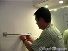 Home Improvement & Repair on Video : How to Install or Repair a Towel Rack – Home Decor DIY Closet Organization Chandelier Pendant Lights, Pendant Light Fixtures, Room Ideas Bedroom, Home Repairs, New Room, Closet Organization, Home Projects, Dyi, Home Improvement
