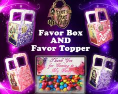 Ever After High Cake Kit | Ever After High (Inspired) Favor Ba g Topper and Box INSTANT DOWNLOAD ...