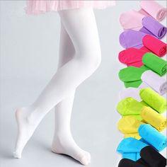 Kid Children Girl Soft Candy Color Pantyhose Ballet Dance Socks Tights R AB/_ FT
