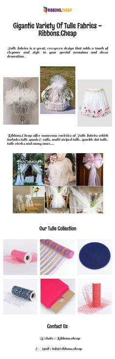 Gigantic Variety Of Tulle Fabrics - Ribbons. Cheap Tulle, Tulle Fabric, Color Patterns, Ribbons, Special Occasion, Craft Projects, Wedding Decorations, Fabrics, Sparkle