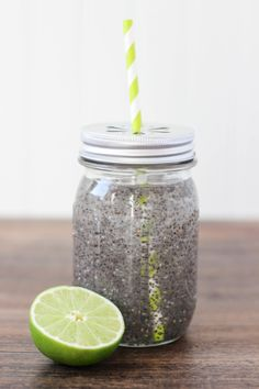 Chia Detox Water ~ ingredients: 1 - 12oz glass of water; 1 tbsp Chia seeds; juice from 1 lime; 1/4 teaspoon agave nectar ~ Instructions: Fill a glass jar with a lid with drinking water. Add chia seeds to water. Place lid on the jar and shake well. Let set for 10 minutes Add juice from 1 lime and 1/4 teaspoon agave nectar. Shake again and drink... Read more at http://www.thecasualcraftlete.com/2015/03/10/chia-detox-water/#THQ8YQAChv3grk1K.99