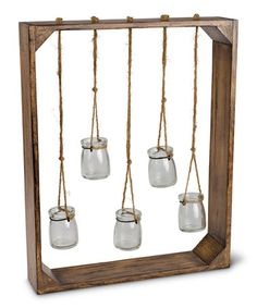 Another great find on #zulily! Hanging Glass Jar Wall Garden Decoration #zulilyfinds