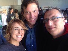 Selfie con el alcalde de Palma, Mateu Isern, y Tomás Ibarz. En la Pop Up Store de Rock Beach (www.rockbeachco.com)