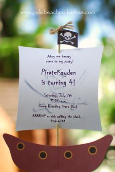 Pirates of the Carribean inspirate Pirate by palmbeachpolkadots, $2.50