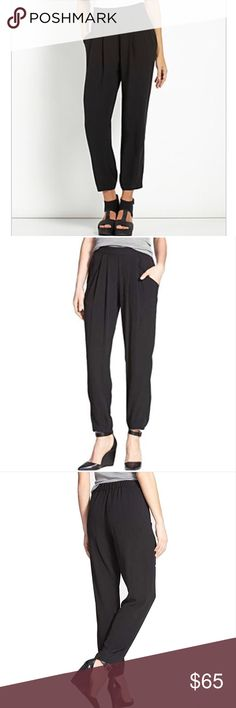8da98bb026ed Eileen Fisher Silk Slouchy Ankle Pant Blk Petite L