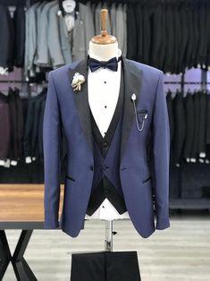 Deo Suits – BOJONI Blazer Outfits Men, Stylish Mens Outfits, Fashion Outfits, Men's Fashion, Navy Slim Fit Suit, Slim Fit Tuxedo, Bow Tie Suit, Tuxedo Colors, Pantalon Costume