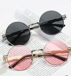 Women Vintage Round Protection Sunglasses Causal Steam Punk Round Eyeglasses is hot sale at NewChic, Buy cool sunglasses now. Round Eyeglasses, Eyeglasses For Women, Cute Glasses, Glasses Frames, Cheap Jewelry, Cute Jewelry, Steam Punk, Cat Eye Sunglasses, Sunglasses Women