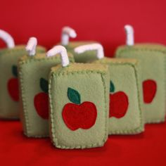 All In One Days Time: Felt Food: Apple Juice Boxes