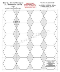 Printable Hexagon Template And English Paper Piecing Tutorial