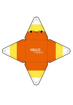 Candy Corn Box Template by *hellohappycrafts on deviantART