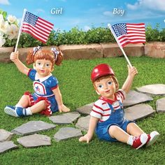 Show your love for the red, white and blue with patriotic décor from Collections Etc., including festive flag apparel, garden decorations and more. Patriotic Outfit, Patriotic Party, Patriotic Decorations, Croquet Party, Garden Figurines, Collections Etc, American Pride, Best Part Of Me, Landscaping