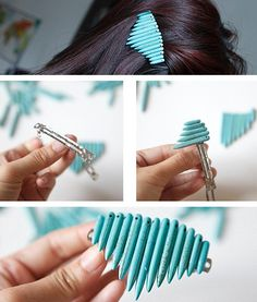 Diy spike barrette 16 Pretty Hair Accessories Specially Made for Beautiful Women