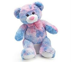 Multicolored Teddy  so cute for a new baby boy or a baby girl. Very soft too! $29.99