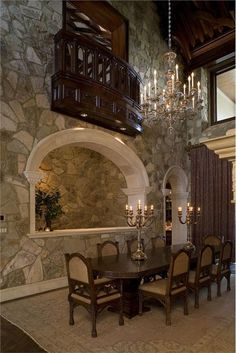 Traditional Dining Room Bedroom Design, Pictures, Remodel, Decor and Ideas - page 6 Tuscan Design, Tuscan Style, Dining Room Sets, Dining Room Design, Dining Table, Old World Kitchens, Luxury Kitchens, Traditional Dining Rooms, Mediterranean Home Decor