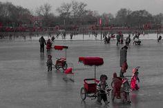 Robot-powered rickshaws, ice skating in Beijing.