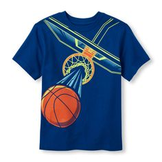 Boys Short Sleeve Basketball Net Graphic Tee