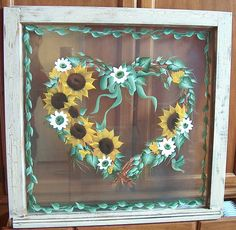 Sunflowerwindow | Flickr - Photo Sharing!---been thinking of doing something like this!!