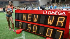 Ethiopian runner Genzebe Dibaba breaks 1,500-meter world record