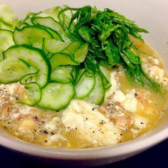 夏はさっぱり(๑´ڡ`๑) 簡単でした〜 - 47件のもぐもぐ - 鯖の味噌煮缶で冷や汁〜 by hananagi